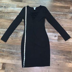 Black long sleeve Charlotte Russe Dress